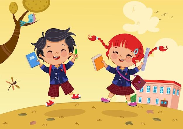 Powrót do ilustracji wektorowych szkoły