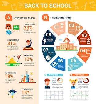 Powrót do infografiki tempalte szkoły