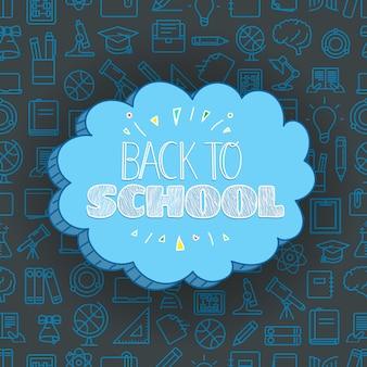 Powrót do koncepcji szkoły. banner wektor napis