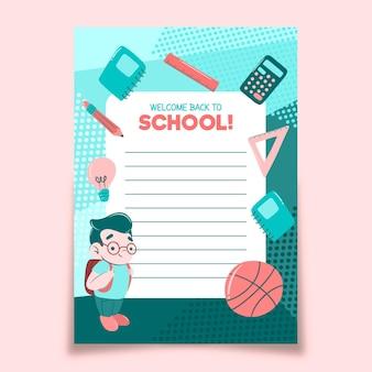 Powrót do motywu szablonu karty szkolnej