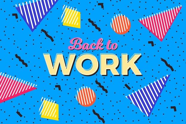 Powrót do pracy - tło memphis