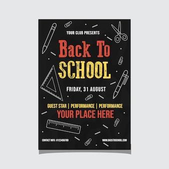Powrót do school event flyer
