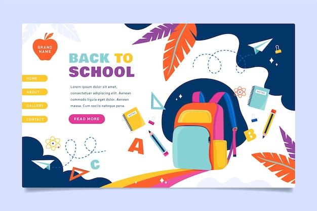 Powrót do strony docelowej plecaka szkolnego
