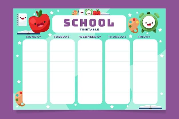 Powrót do szablonu harmonogramu szkoły
