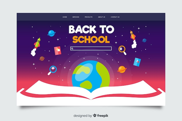 Powrót do szablonu strony docelowej szkoły