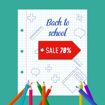 Powrót do szkoły plakat sprzedaż.