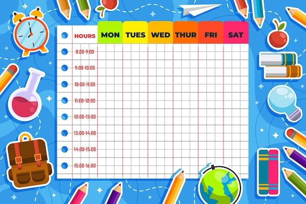 Powrót do szkolnego planu lekcji