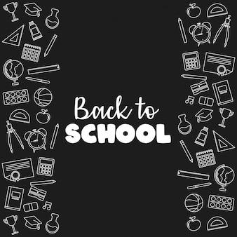 Powrót do szkoły banner ilustracji wektorowych