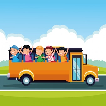 Powrót do szkoły dla dzieci kreskówki