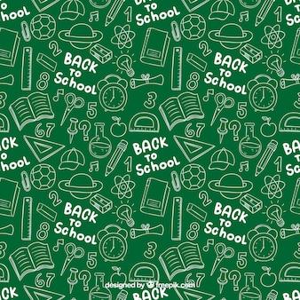 Powrót do szkoły doodles wzór