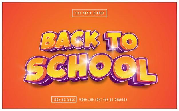 Powrót do szkoły, edytowalny żółty efekt tekstowy