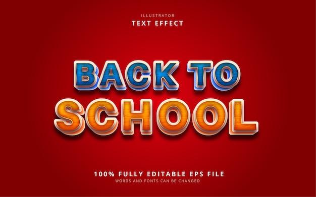 Powrót do szkoły efekt tekstowy