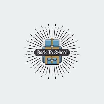 Powrót do szkoły ikona ilustracja wektorowa