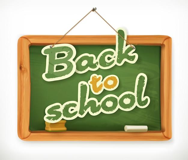 Powrót do szkoły. ikona tablicy szkolnej