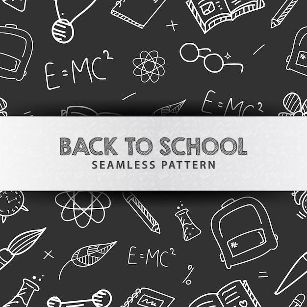 Powrót do szkoły ilustracja wzór