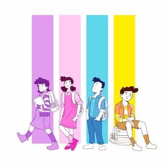 Powrót do szkoły ilustracji wektorowych