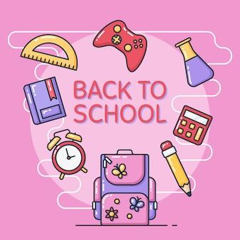 Powrót do szkoły ilustracji