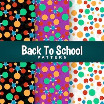 Powrót do szkoły kolorowy wzór atomu