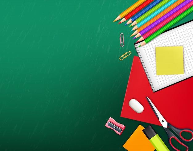 Powrót do szkoły kreatywne tło