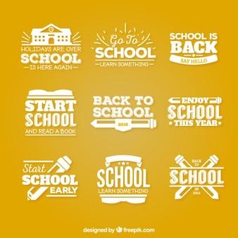 Powrót do szkoły odznaki