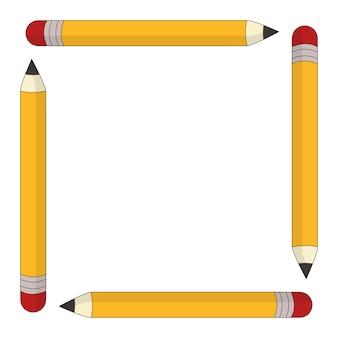 Powrót do szkoły ołówek rama