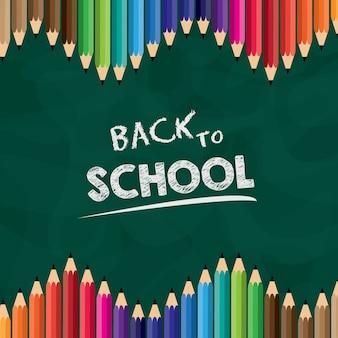 Powrót do szkoły ołówek tła