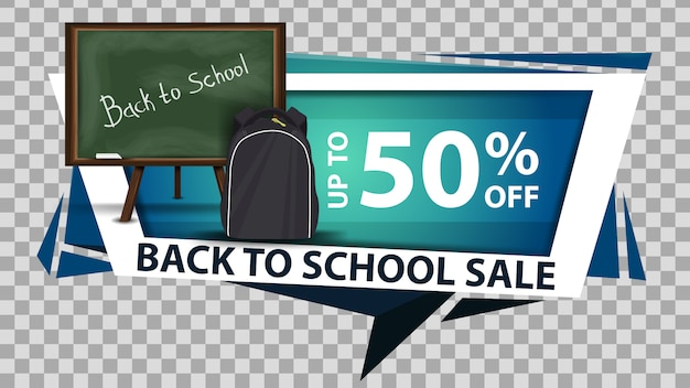 Powrót do szkoły sprzedaż, baner internetowy zniżki