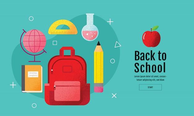 Powrót do szkoły sprzedaży baner