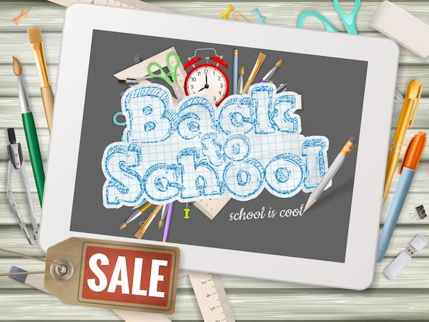 Powrót do szkoły sprzedaży tła.