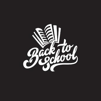 Powrót do szkoły tekst napis kaligraficzna kompozycja