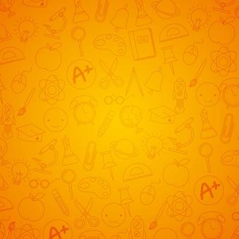 Powrót do szkoły tło doodle wzór