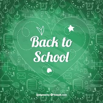 Powrót do szkoły tło w stylu tablica
