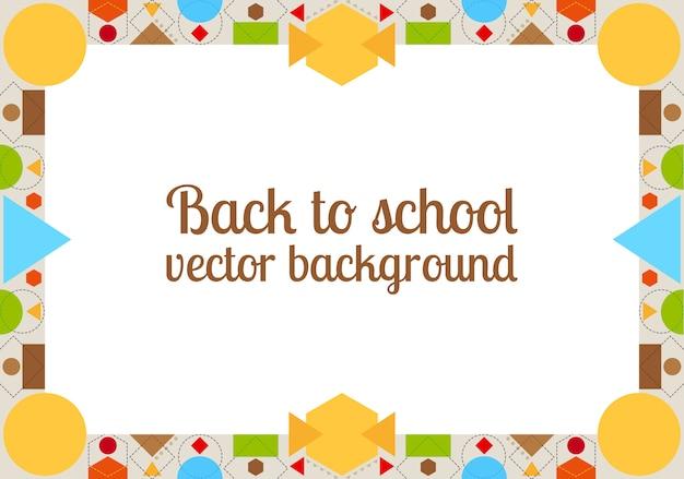 Powrót do szkoły tło z ramą