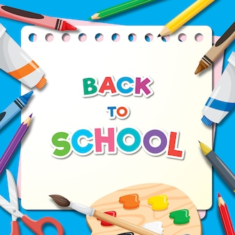 Powrót do szkoły transparent tło