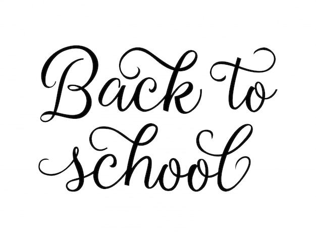 Powrót do szkoły twórcze litery