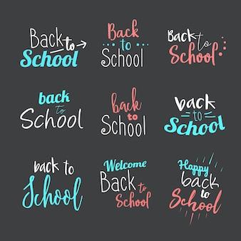 Powrót do szkoły typografia