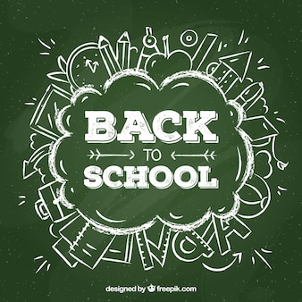 Powrót do szkoły z literą tablica