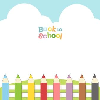 Powrót do szkoły z ogrodzeniem ołówkowym