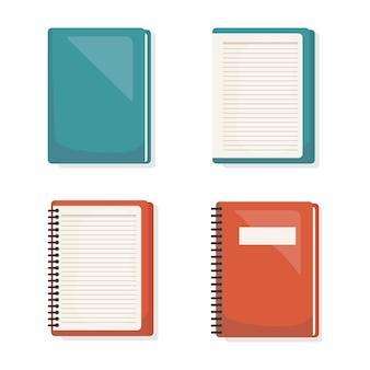 Powrót do szkoły zestaw ikon książek