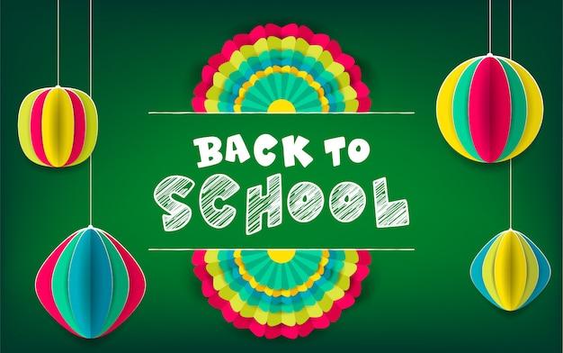 Powrót do szkoły zielony plakat