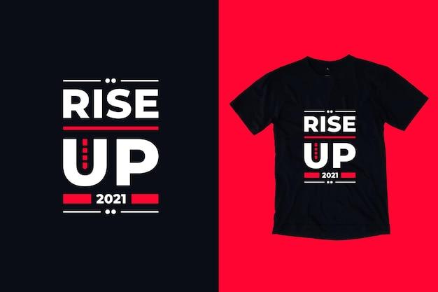Powstań nowoczesna typografia motywacyjne cytaty projekt koszulki