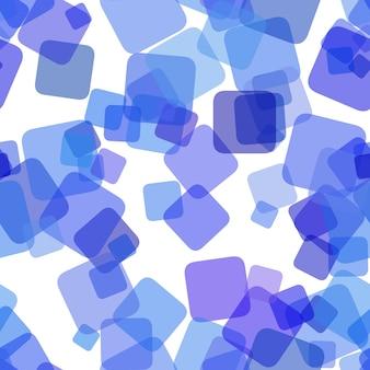Powtarzanie geometrycznego wzoru tła kwadratowego - grafiki wektorowej z losowych obróconych kwadratów z efektem krycia