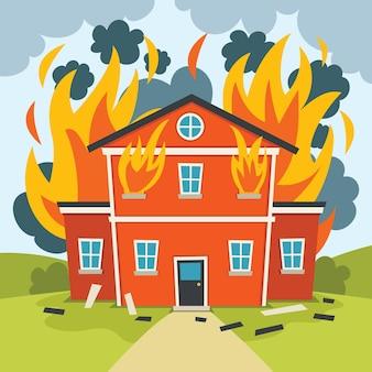 Pożar katastrofy naturalnej