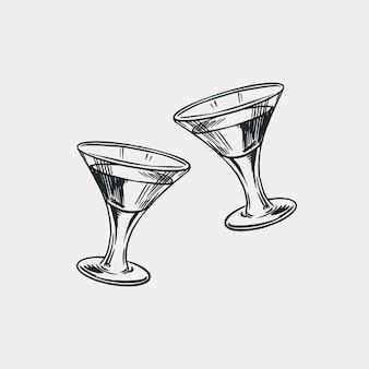 Pozdrawiam toast. odznaka vintage american cognac lub likier.