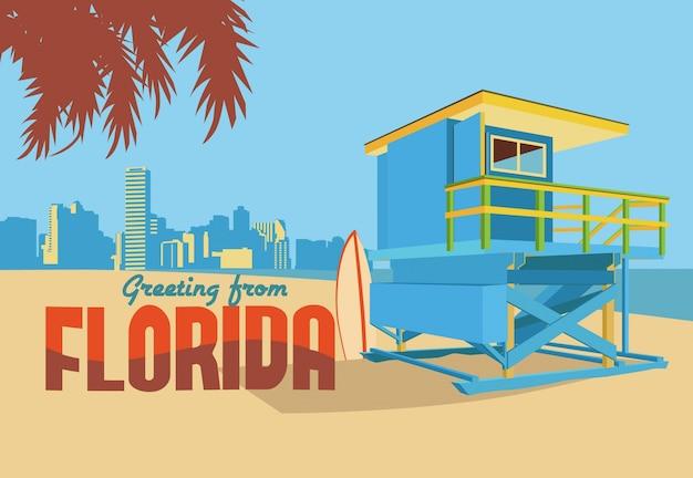 Pozdrowienia z florida postcard