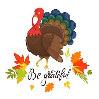 Pozdrowienia z okazji święta dziękczynienia z jesiennych liści
