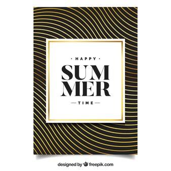 Pozdrowienie letnie ze złotymi falami
