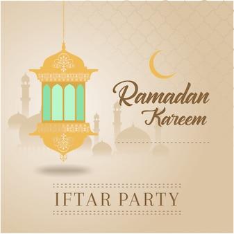 Pozdrowienie ramadan kareem partia iftar