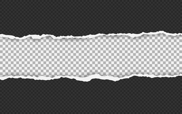 Pozioma podarta krawędź papieru.