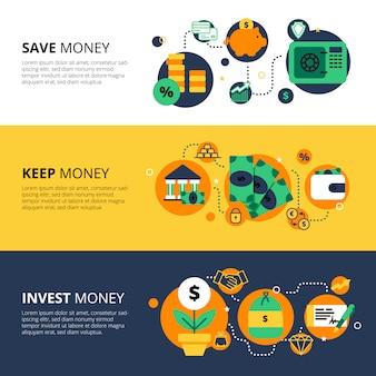 Poziome banery finansów